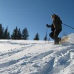 Snowshoeing in les Gets, France