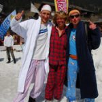 Skiing in jim jams