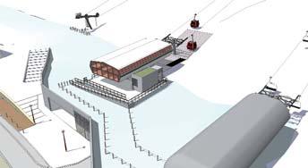 New ski lift in Les Gets