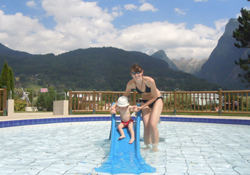 The baby pool at Samoens