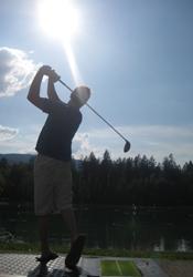 Golf driving range at Samoens