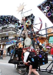 Bubble machine at Les Gets' music festival