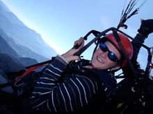 parapente in Les Gets