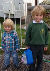 Lucas starts school