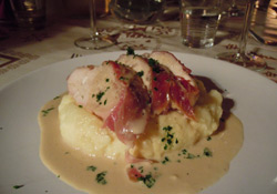 Chicken-wrapped-in-Jambon-Cru-with-an-ivory-sauce