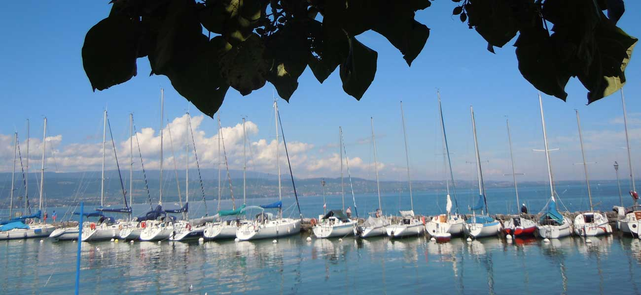 Harbour at Yvoire on Lake Geneva