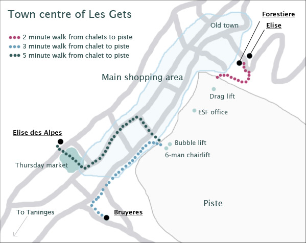 Village Map of Les Gets