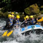 Whitewater rafting in Les Gets, France