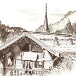 Summer chalet drawn by Pete