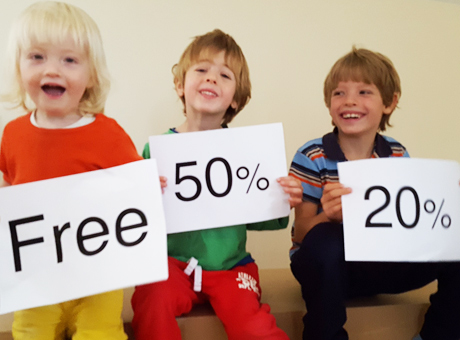 children go cheaper on our skiing holidays